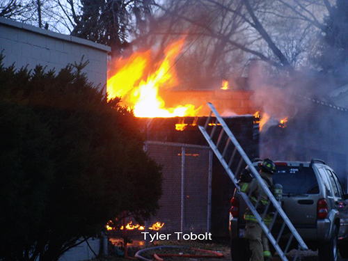 garage fire in Belvedere IL