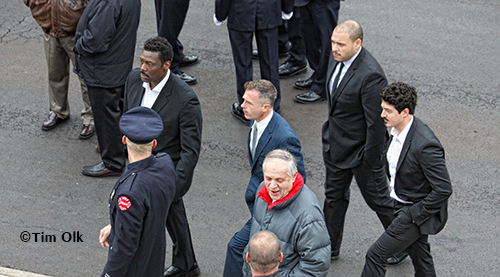 cast of Chicago Fire pays their respect to Chicago Captain Herbie Johnson