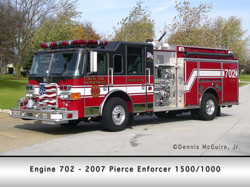 Crete Fire Department Engine 702 Pierce Enforcer