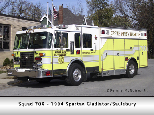 Crete Fire Department Squad 706
