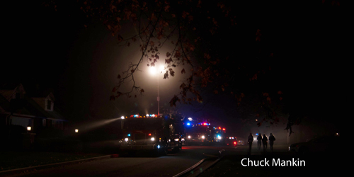 House fire in Lake Bluff IL 11-15-12