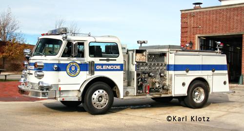 Glencoe Fire Department American LaFrance Century pumper