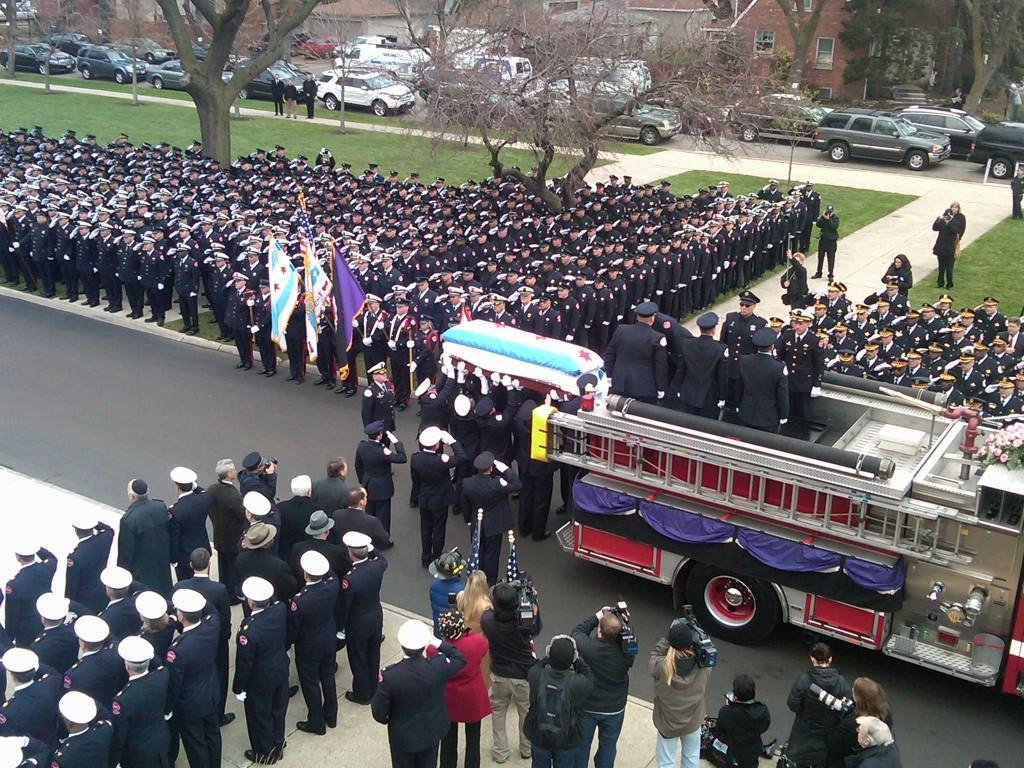 Funeral for Chicago Fire Department Captain Herbert Johnson