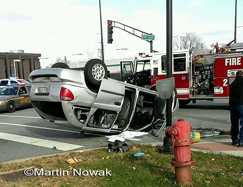 crash with rollover in Bridgeview