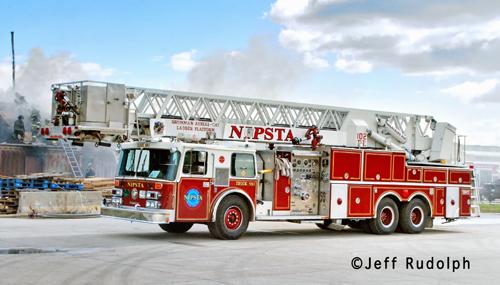 NIPSTA Truck 1 X-Hillside Fire Department Grumman AerialCat tower ladder