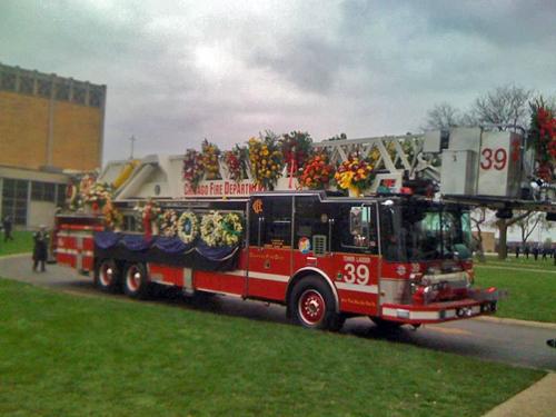 Chicago Fire Captain Herbert Johnson funeral