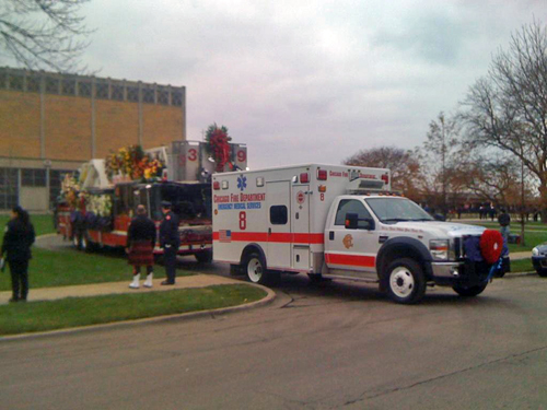 Chicago Fire Captain Herbert Johnson funeral