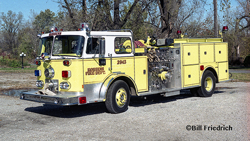 Robbins Fire Department 1973 Seagrave engine formerly from York Center FPD