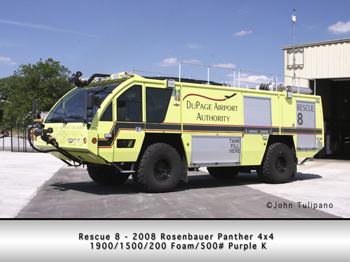 West Chicago Fire Protection District Rescue 8 Rosenbauer Panther ARFF