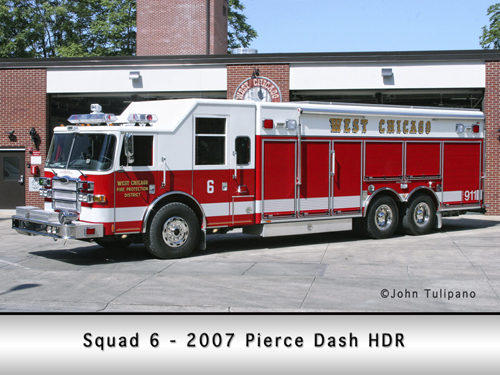 West Chicago Fire Protection District Squad 6
