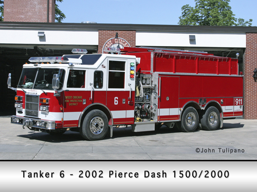 West Chicago Fire Protection District Tanker 6