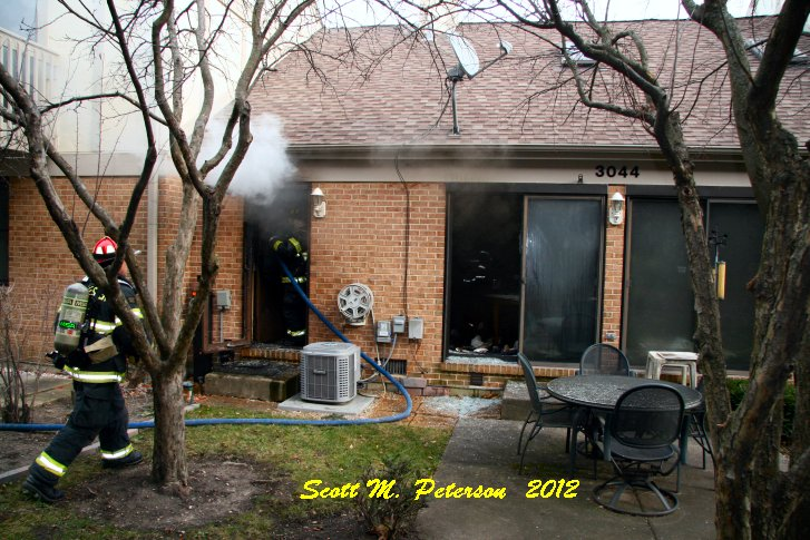 Apartment fire in Westchester 11-22-12