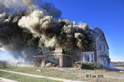 Woodstock Fire Rescue District burns house down