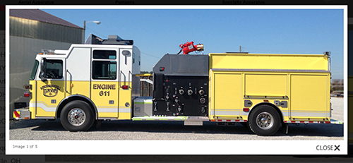 new Sutphen industrial pumper for Elwood FPD (IL)