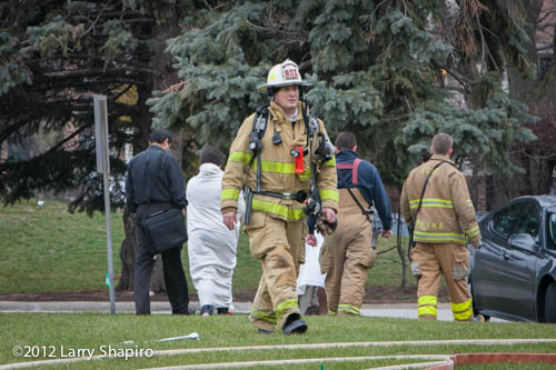 basement apartment fire in Palatine 12-17-12