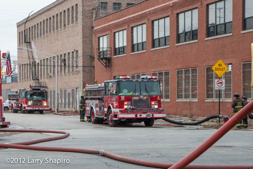 4-11 alarm commercial building fire in Chicago 12-29-12 at 2444 W. 21st Street
