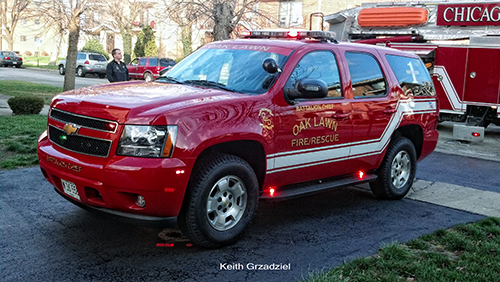 Oak Lawn Fire Department command car