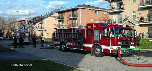 apartment fire in Chicago Ridge