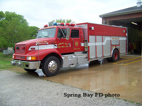 The Spring Bay FPD now owns this IHC/Precision engine that formerly saw service in Bolingbrook, IL. Spring Bay FD photo