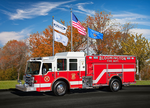 Bloomington Fire Department new engine