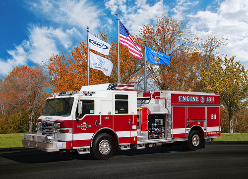 Pierce Impel pumper for the Dwight Fire Protection District