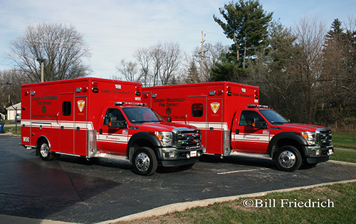 new ambulances for the Darien-Woodridge FPD