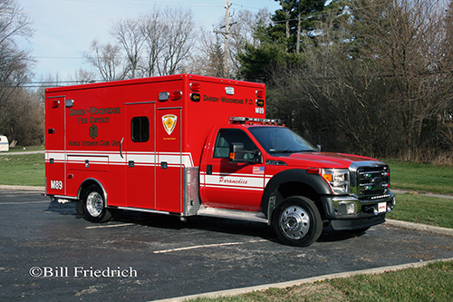 new ambulance for the Darien-Woodridge FPD Medic 89