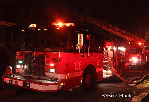 Chicago Fire Department Still & Box Alarm fire 12-9-12 on East 75th Street