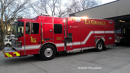 LaGrange Fire Department new Ferrara Engine 1111
