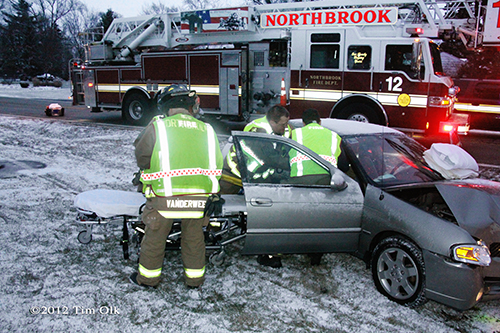 crash on Techny Road in Northrook 12-25-12