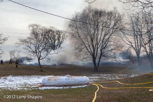 barn fire in Barrington Hills