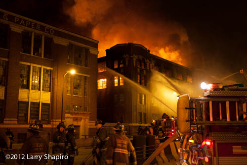 5-11 alarm warehouse fire in Chicago 1-22-13 at 3757 S. Ashland Avenue