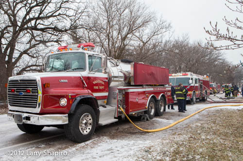 fire tanker nursing an engine