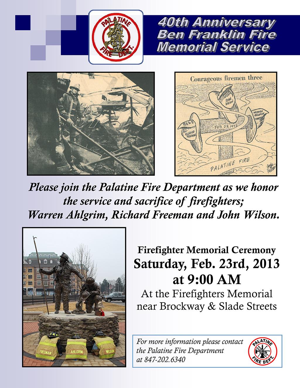 Palatine Firefighter Memorial Service