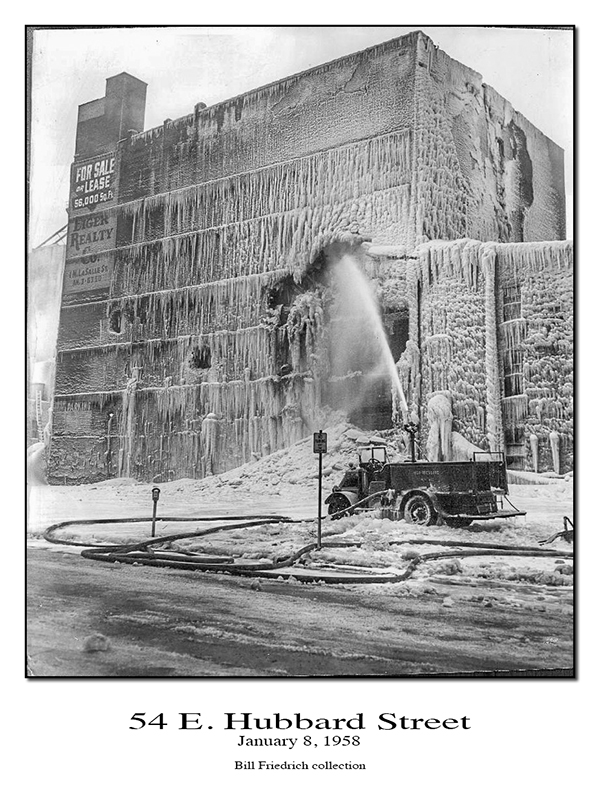 Hubbard Street fire 1958 historic Chicago fire photo