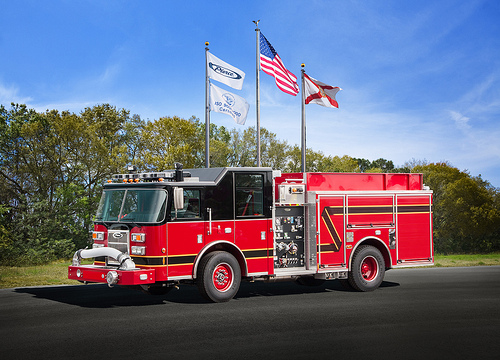 Pierce Saber pumper for Steger Fire Department