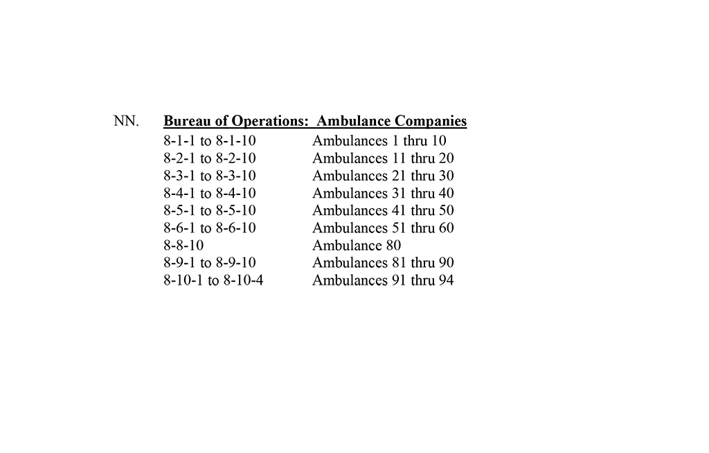 Chicago Fire Department radio signatures Administrative Order A-01-13