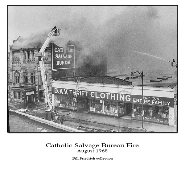 historic Chicago fire photo Catholic Salvage Bureau