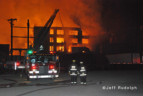 large warehouse fire in Chicago