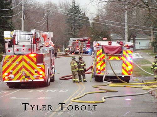 Crystal Lake garage fire on McHenry Avenue
