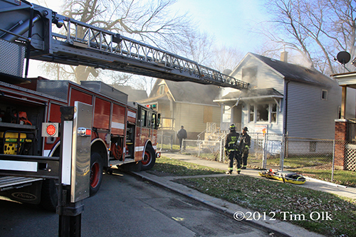 Chicago Fire Dept working fire at 11536 South Yale