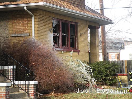 winter house fire