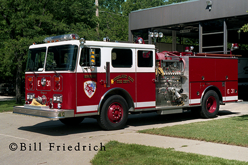 Highland Park Fire Department Seagrave fire engine