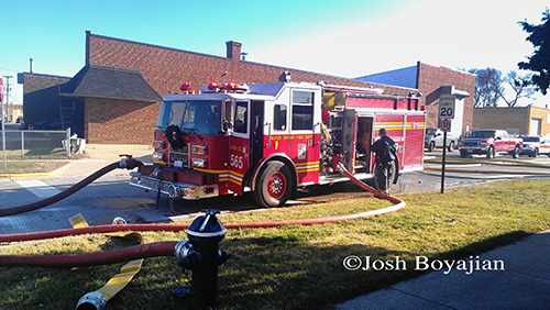 River Grove Fire Department engine pumping