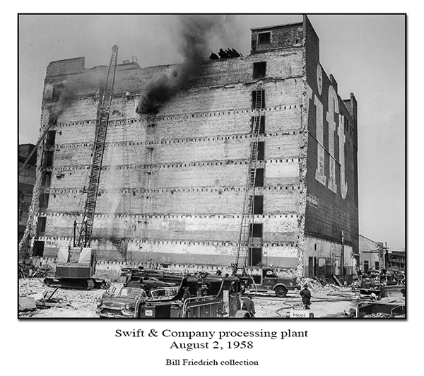 historic Chicago fire photo Swift & Company