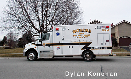 Mokena Fire Department ambulance 6634