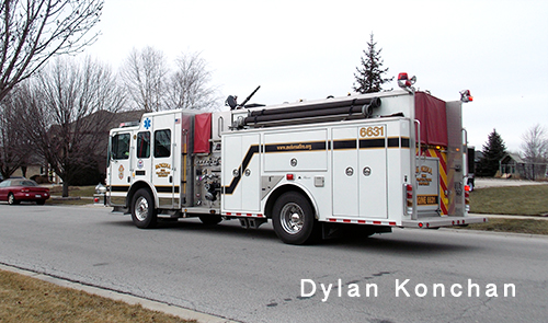Mokena Fire department fire engine 6631