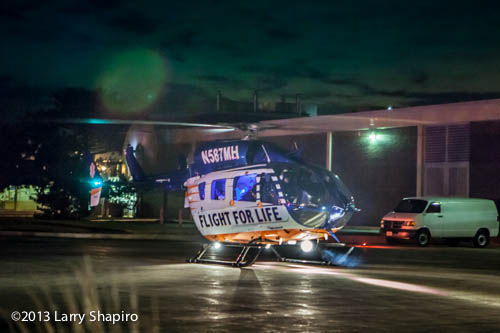 Flight For Life medevac on-scene