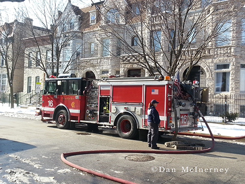 Chicago fire engine on-scene