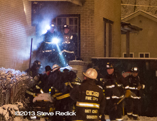 mayday at Chicago house fire firefighters injured